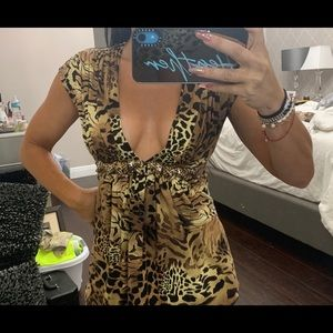 Sky Leopard sexy top extra small